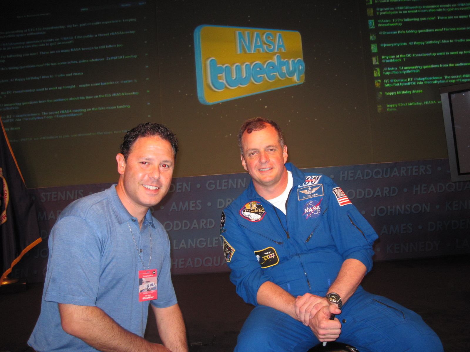 Neal and Astronaut TJ Creamer